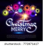 merry christmas calligraphic... | Shutterstock .eps vector #772871617