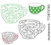 tea cup  the labyrinth simple... | Shutterstock .eps vector #772873783