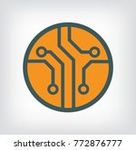 circuit board  technology icon  ... | Shutterstock .eps vector #772876777