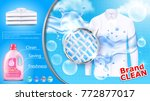 vector realistic banner with... | Shutterstock .eps vector #772877017