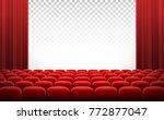 white transparent cinema movie... | Shutterstock .eps vector #772877047