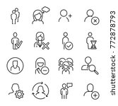 modern outline style person... | Shutterstock .eps vector #772878793