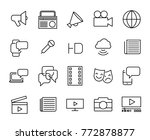 simple collection of mass media ... | Shutterstock .eps vector #772878877