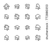 modern outline style home icons ... | Shutterstock .eps vector #772880353