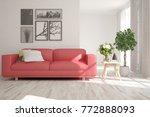 idea of white minimalist room... | Shutterstock . vector #772888093