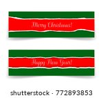 merry christmas and happy new... | Shutterstock .eps vector #772893853