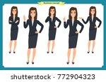 set of businesswoman character... | Shutterstock .eps vector #772904323