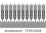field of wheat  barley or rye ...   Shutterstock .eps vector #772915243
