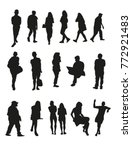 modern silhouettes of men and... | Shutterstock .eps vector #772921483