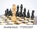 chess. one against all.... | Shutterstock . vector #772921507