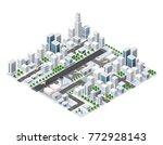 isometric area landscape... | Shutterstock .eps vector #772928143