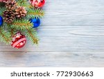 branches of a christmas tree... | Shutterstock . vector #772930663