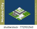 isometric module is area... | Shutterstock .eps vector #772931563