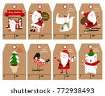christmas labels and decoration ... | Shutterstock .eps vector #772938493