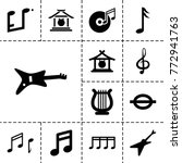 melody icons. set of 13...   Shutterstock .eps vector #772941763