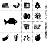 food icons. set of 13 editable... | Shutterstock .eps vector #772941787
