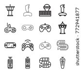 set of 16 controller outline... | Shutterstock .eps vector #772941877