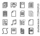 set of 16 sheet outline icons... | Shutterstock .eps vector #772941913