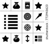 ui icons. set of 13 editable...