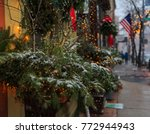snow falls in troy ny and... | Shutterstock . vector #772944943