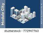 isometric module is area... | Shutterstock .eps vector #772947763