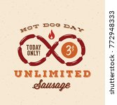 hot dog day with unlimited... | Shutterstock . vector #772948333