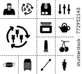 closeup icons. set of 13... | Shutterstock .eps vector #772952143
