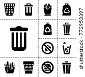 junk icons. set of 13 editable... | Shutterstock .eps vector #772953397