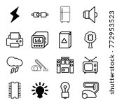 set of 16 electrical outline... | Shutterstock .eps vector #772953523