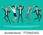business people in suits... | Shutterstock .eps vector #772962163