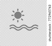 sun and ocean vector icon eps... | Shutterstock .eps vector #772965763