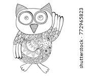 black and white owl... | Shutterstock .eps vector #772965823
