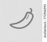 chili pepper vector icon eps 10. | Shutterstock .eps vector #772966993