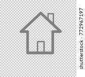house vector icon eps 10. home... | Shutterstock .eps vector #772967197
