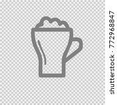 beer mug vector icon eps 10. | Shutterstock .eps vector #772968847