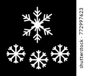 set of snowflakes vector icons. ...