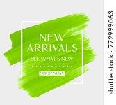 new arrivals sale text over art ... | Shutterstock .eps vector #772999063