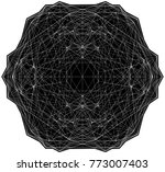 geometric wire line structure...   Shutterstock .eps vector #773007403