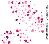 heart confetti beautifully...   Shutterstock .eps vector #773007457