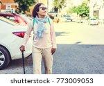 an attractive elderly woman... | Shutterstock . vector #773009053