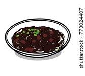 south korea's delicious... | Shutterstock .eps vector #773024407