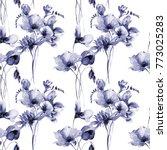floral seamless wallpaper ... | Shutterstock . vector #773025283