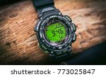 sport watch on hand with empty... | Shutterstock . vector #773025847