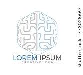 creative brain logo design.... | Shutterstock .eps vector #773028667