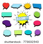 comic blank speech bubbles and... | Shutterstock .eps vector #773032543