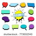 comic blank speech bubbles and... | Shutterstock .eps vector #773032543