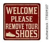 welcome please remove your... | Shutterstock .eps vector #773039107