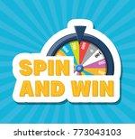 fortune wheel design | Shutterstock .eps vector #773043103
