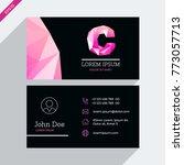 vector business card template...   Shutterstock .eps vector #773057713