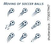moving of soccer balls | Shutterstock .eps vector #773057947
